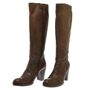 Alberto Fermani Women's Boots Brown Leather Knee High Size 10 NEW $695.00